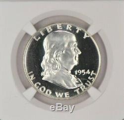 1954 Franklin Half Dollar Ngc Preuve 68 Pf68 Étoile
