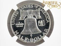 1954 Ngc Pf 68 Cameo 50c Proof Pr Franklin Half Dollar Fifty Cents Coin (t20)