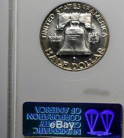 1954 Pf68 Franklin Half Dollar 50c Preuve, Ngc Graded Pr68, Ton Arc-en-rim