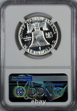 1954 Preuve Franklin Half Dollar Ngc Pf68 Pr68 Star Blast White Et Frost