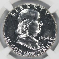 1954 Proof Franklin Half Dollar 50c Ngc Certified Pr Pf 69 (016)