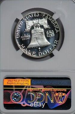 1955 50c Franklin Ngc Pr68 Cameo Cac Vérifié Moitié Silver Dollar Proof