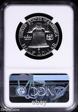 1955 Franklin Silver Half Dollar Ngc Pf69 Flawless Proof! R8-687-001 R8-687-001 R8-687-001 R8