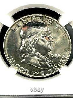 1955 Franklin Silver Half Dollar Ngc Pf 67 Gem Proof