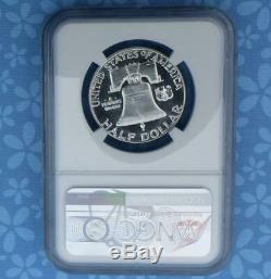 1955 Ngc 68 Preuve D'argent Franklin Half Dollar, Gem Pf 68 Coin, Frosty Inverse