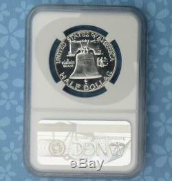 1955 Ngc Et Cac Preuve 68 Franklin Argent Half Dollar, Pf 68 Cac, Lumière Cameo