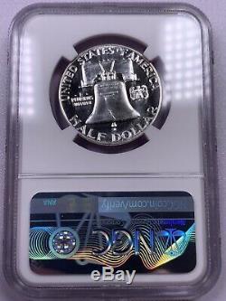 1955 Ngc Pf68 Étoiles Franklin Half Dollar Preuve Wow