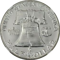 1955 Ngc Pf69 Pr69 Proof Franklin Half Dollar Top Pop And Blast White