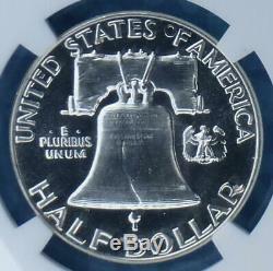 1955 Ngc Pf 68 Étoile Franklin Argent Half Dollar, Gem Proof 68 Star, Avers. Camée