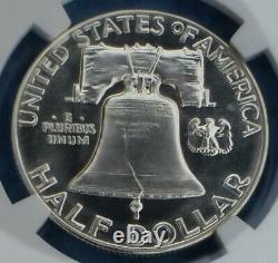 1955 Ngc Pf 69 Franklin Silver Half Dollar, Gem Proof 69 Argent. Pièce De 50 Cents