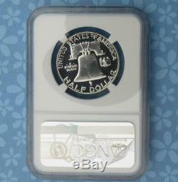 1955 Ngc Preuve 68 Cameo Franklin Argent Half Dollar, Pf 68 Cam 50 Cents, Pièce
