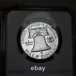 1955 Pf68 Cameo Franklin Demi-dollar 50c Preuve, Ngc Classé Pr68 Cam
