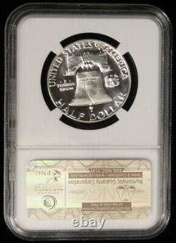 1955 Pf 68 Étoile Cac Cameo Ngc Proof Frosted Franklin Half Dollar
