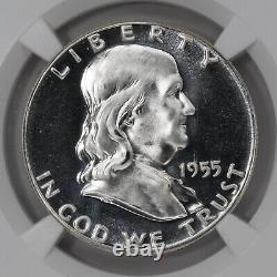 1955 Preuve Franklin Demi-dollar 50c Ngc Certifié Pf 68 Étoile (001)