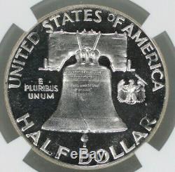 1955 Preuve Franklin Half Dollar 50c Ngc Certifié Pfpr 67 Cameo (007)