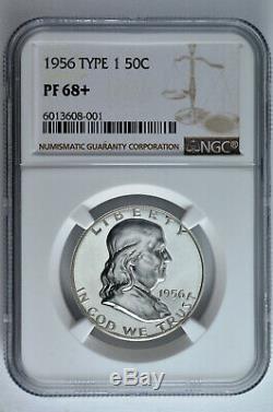 1956 1 50c Proof Silver Franklin Half Dollar Ngc Pf 68+