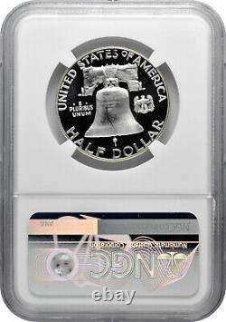 1956 2 50c Proof Silver Franklin Half Dollar Ngc Pf 69 Étoiles Cameo