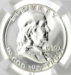 1956 2 Franklin Half Dollar 50c Ngc Pf Pr 69 Argent Certifié Proof Coin
