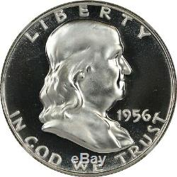 1956 2 Ngc Pf68 Pr68 Dcam Ultra Cam Ucam Preuve Franklin Half Dollar