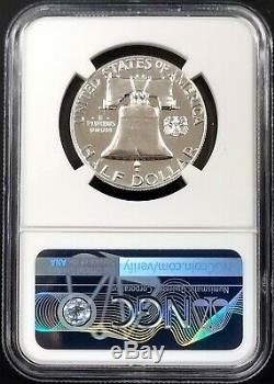 1956 2 Preuve Franklin Argent Half Dollar Classé Pf 69 Par Ngc! Brillant