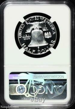 1956 Franklin Argent Half Dollar Ngc Pf68 Cameo Star Preuve! R15-324-001