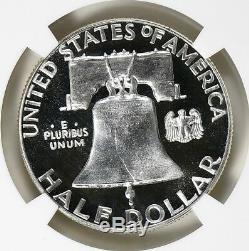 1956 Franklin Moitié Type 2 Dollar Ngc Pf 69 Cameo
