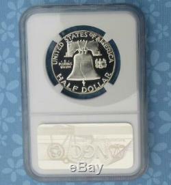 1956 Ngc Pf 69 Cam Franklin Argent Half Dollar, Preuve Gem 69 Cameo 50 Cent Coin