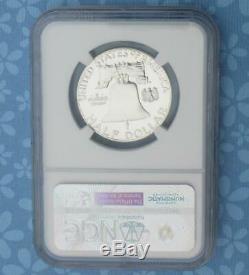 1956 Ngc Preuve 68 Star & Cameo Franklin Argent Half Dollar, Pf 68 Étoiles Cam Coin