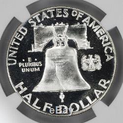 1956 Preuve Franklin Half Dollar 50c De Type 2 Ngc Certifié Pf 68 Unc Cameo (004)