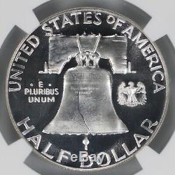1956 Preuve Franklin Half Dollar 50c De Type 2 Ngc Certifié Pr Pf 69 Ultra Cam 002