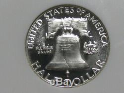 1956 Preuve Franklin Half Dollar Ngc Pf 68 W Ultra Cameo # 79-002