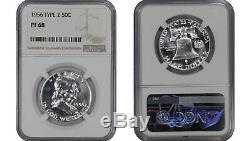 1956 Ty2 1963 Preuve Franklin Half Dollar Ngc Certifié Pr Pf 68 8 Slab Lot