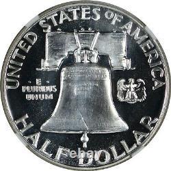 1956 Type 1 Ddr Ngc Pf69 Pr69 Proof Franklin Half Dollar Vp-001 Top Pop