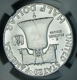 1956 Type 1 Ddr Pf69 Preuve 69 Franklin Half Dollar Ngc Vp-001 Très Scarce