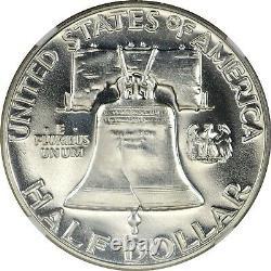 1956 Type 1 Franklin Half Dollar Ngc Pr68 Ddr Double Die Reverse Vp-001