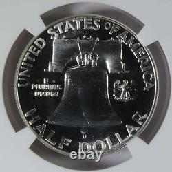 1956 Type 1 Preuve Franklin Silver Half Dollar Ngc Graded Pf68 Gem Proof