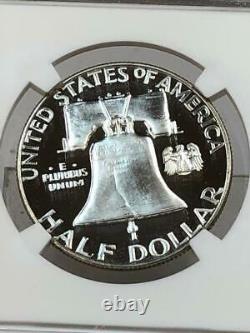 1956 Type 2 Franklin Half Dollar Ngc Pf69 Ultra Cameo Dcam Pop 116 $3500 Valeur