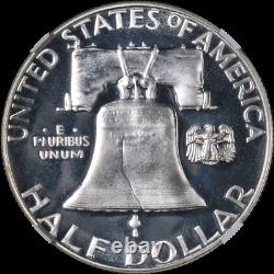 1956 Type 2 Franklin Half Dollar Proof Ngc Pf69 Cameo Superb Eye Appeal