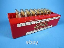 1956 Type 2 P À 1963 P, Franklin Demi-dollars, Ngc Pf 68 Nous Le Peuple