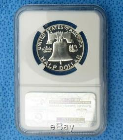 1957 Ngc Pf 68 Étoiles Franklin Argent Half Dollar, Preuve Gem 68 Étoiles 50 Cent Coin