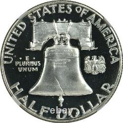 1958 Ngc Pf68 Pr68 Cameo Proof Franklin Half Dollar Cac Approved Blast White