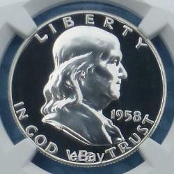 1958 Ngc Preuve 67 Étoile Franklin Argent Half Dollar, Gem Pf 67 Étoiles 50 Cents, Pièce