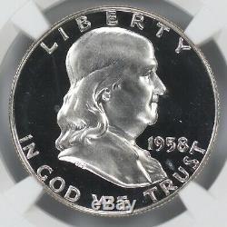 1958 Preuve Franklin Half Dollar 50c Ngc Certifié Pfpr 66 Ultra Cameo (002)