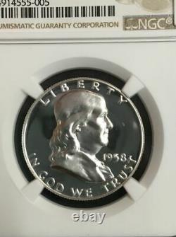 1958p Pf69 Ngc Certifié Franklin Half Dollar Finest Known 1958 Regular Proof