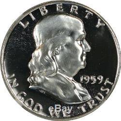 1959 Franklin Half Dollar Ngc Pr68 Cameo Cac Approuvé
