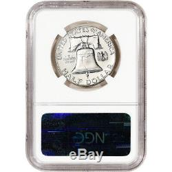 1959 Us Franklin Argent Half Dollar Proof 50c Ngc Pf68