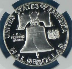 1962 Ngc Pf 68 Cam Argent Franklin Half Dollar, Preuve Gem 68 Cameo 50 Cent Coin