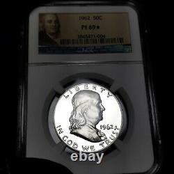 1962 Pf69 Star Franklin Half Dollar 50c Proof, Ngc Graded Pr69