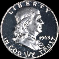 1963 Franklin Half Dollar Proof Ngc Pf69 Superb Eye Appeal Strong Strike