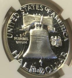 1963 Ngc Pf67 Ultra Cameo Silver Proof Franklin Half Dollar Extreme Grade 50c